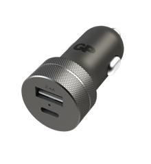 GP - USB Car Charger - Black (1 x USB A + 1 x USB C) (405130)