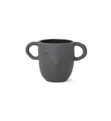 Ferm Living - Mus Plant Pot Large - Dark Grey (100100104)