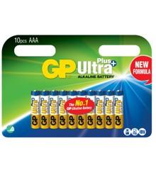 GP - Ultra Plus Alkaline 10-pakke - AAA Batterier