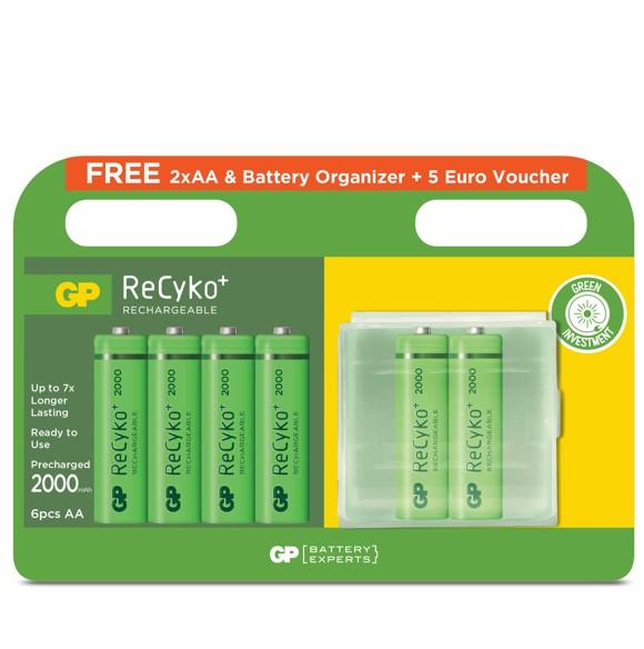 GP - Recyko Batteries  - 6 x AA (201198)