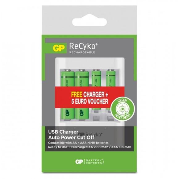 GP - ReCyko+ Batteries - 2xAA + 2xAAA (202226)