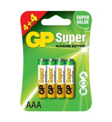 GP - Super Alkaline Batterier - 8 x AAA