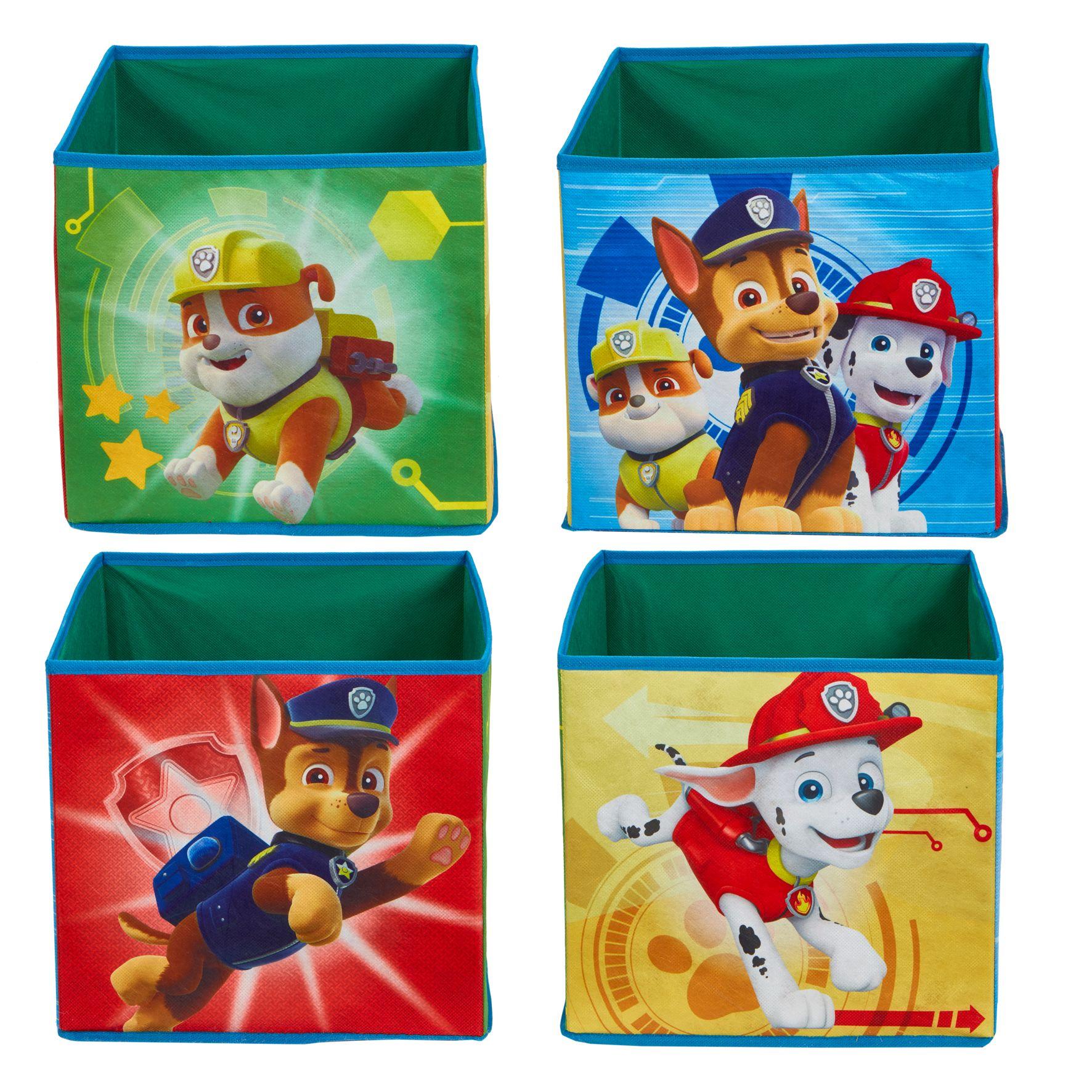 Paw Patrol - Kids Cube Toy Storage Bins (291PTR01NE)