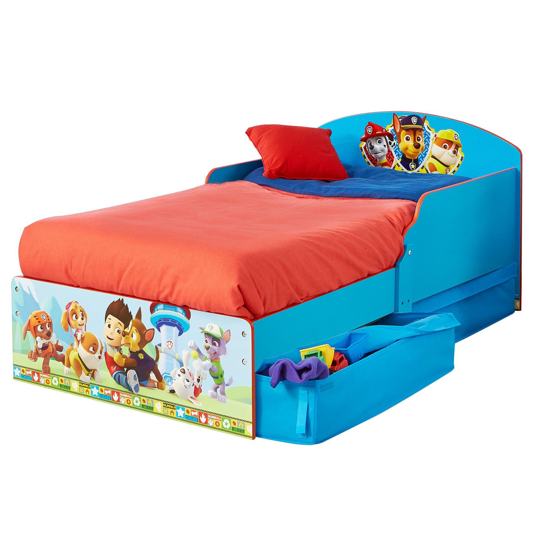 Paw Patrol - Kids Toddler Bed with Storage (516PWP01EM)