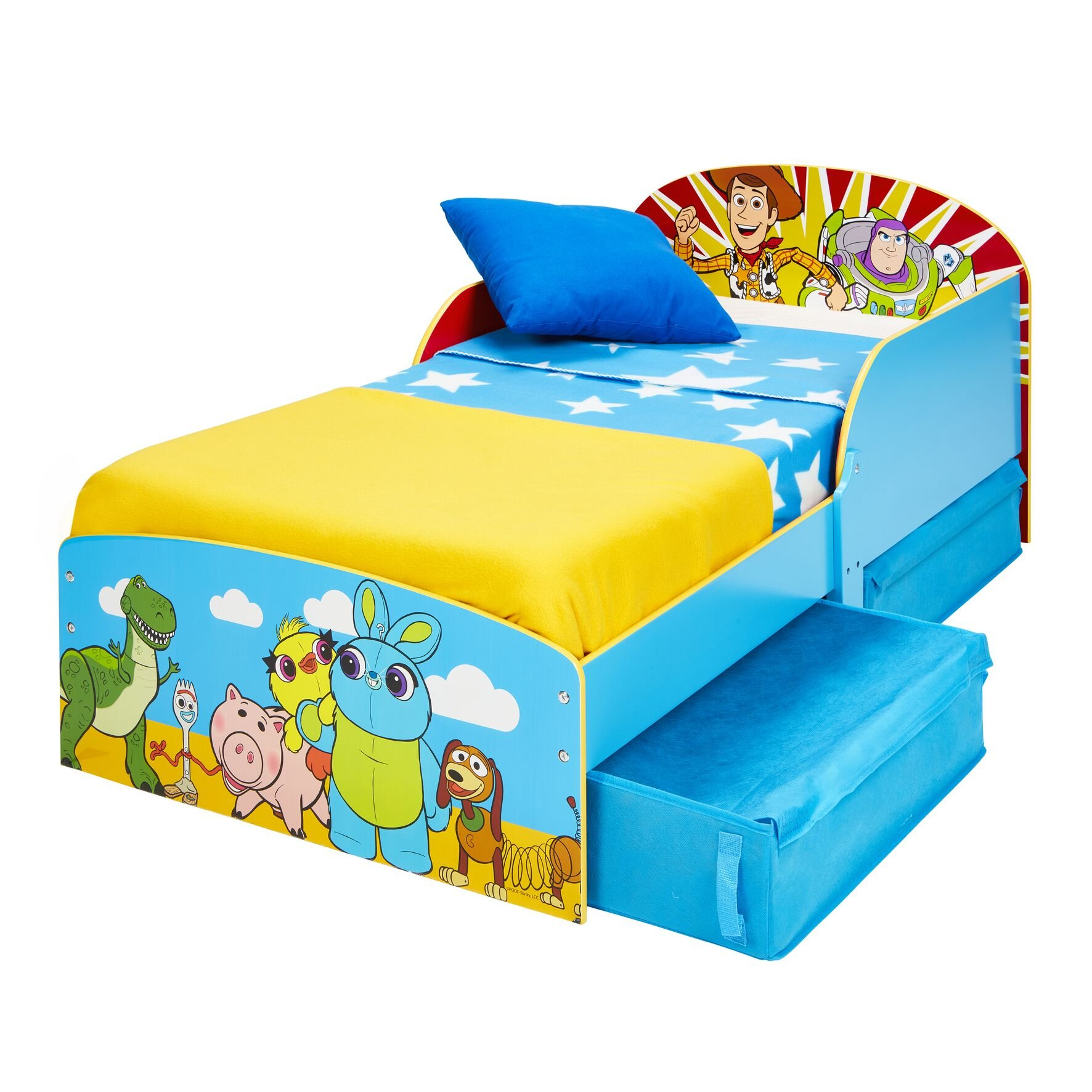 Toy Story - 4 Kids Toddler Bed with Storage (516TYY01EM)