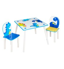 Dinosaur - Kids Table and 2 Chairs Set (527DIE01NE)