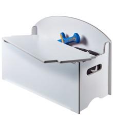 Kids White Toy Box Bench (538GWH01EM)