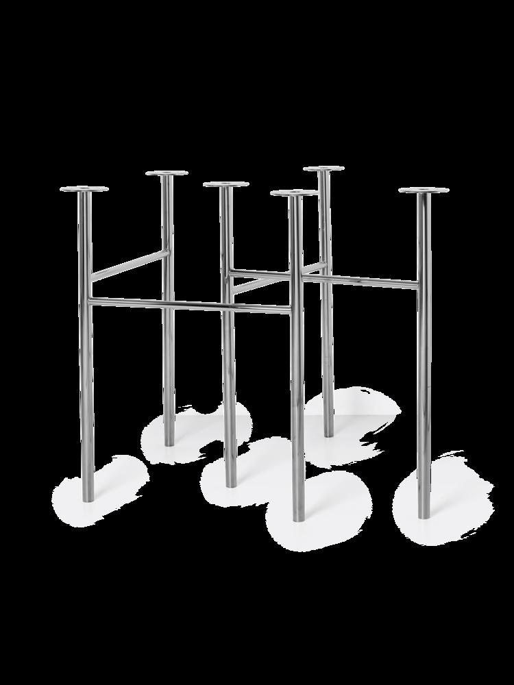 Ferm Living - Mingle Table Legs 71 cm - Chrome (9849)