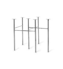 Ferm Living - Mingle Table Legs 71 cm - Chrome (9849)