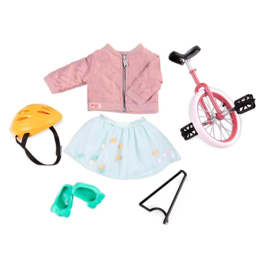 Our Generation - Deluxe Outfit -  Peppy in Pink with Unicycle (730300)