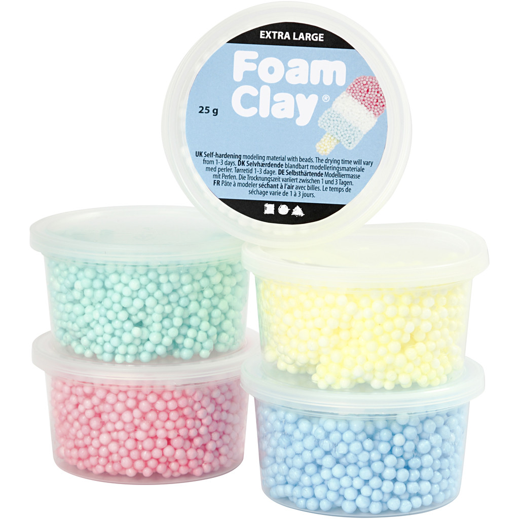 Foam Clay - Extra Large - Asst. Colours (5x25g) (780940)