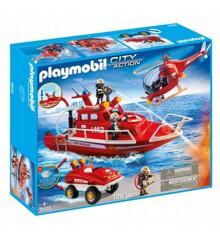 Playmobil - Brandvæsen sæt med undervandsmotor (9503)