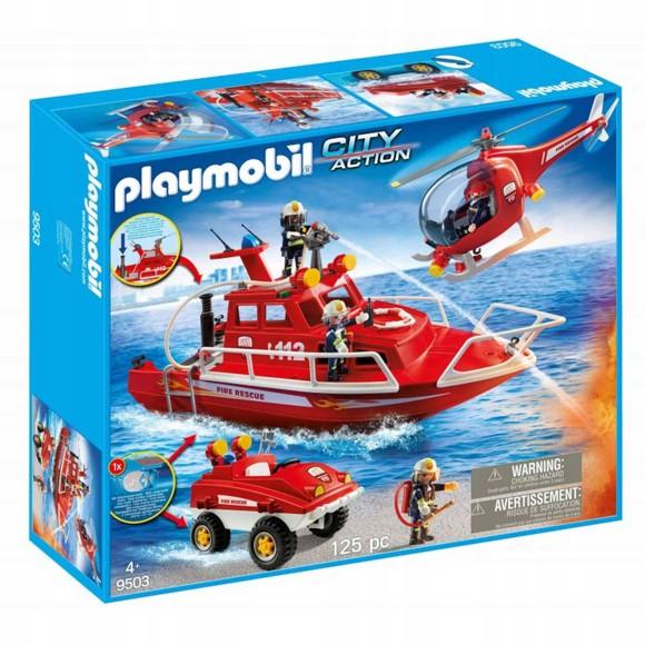 Playmobil - Fire brigade set with underwater motor (9503)