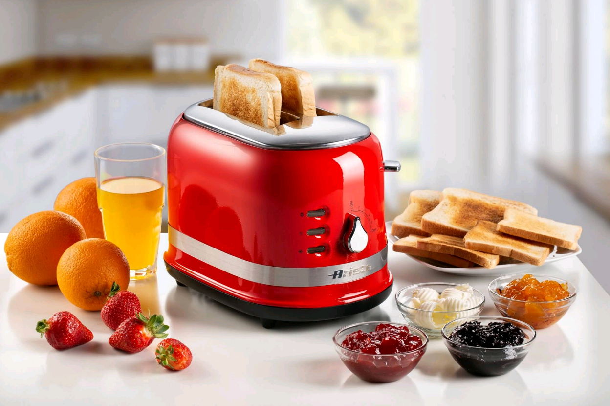 Moderna - Bread Toaster for 2 slices - Red (657843)