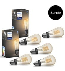 Philips Hue - 5xE27 Filament ST64 - Warm White - Bluetooth - Bundle