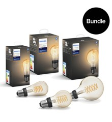 Philips Hue - Filament G96 & ST64 & A60 Kombo Bundle