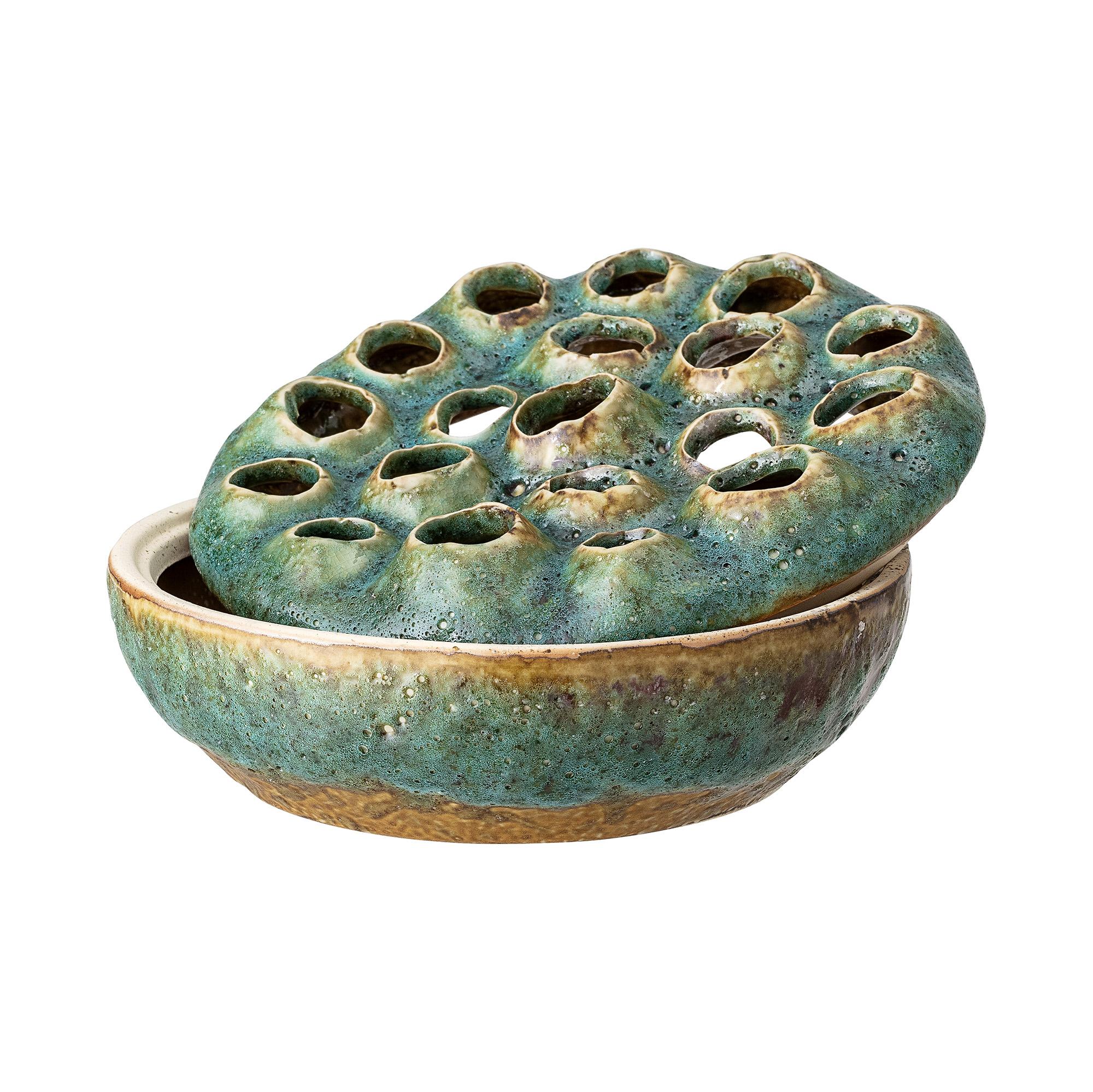 Bloomingville - Stonewear Vase/Bowl Ø 18 cm - Green (82046315)
