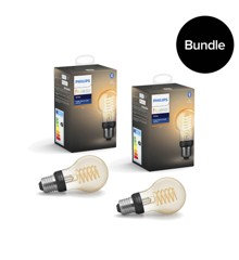 Philips Hue - 2xE27 Filament A60 - White - Bluetooth - Bundle