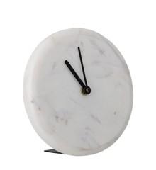 Bloomingville - Marble Table Clock Ø 16 cm - White (82049060)