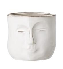 Bloomingville  - Face Flowerpot - White (82048963)