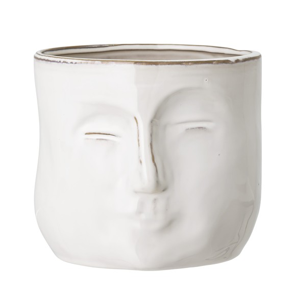 Bloomingville  - Face Flowerpot - White (82048963)
