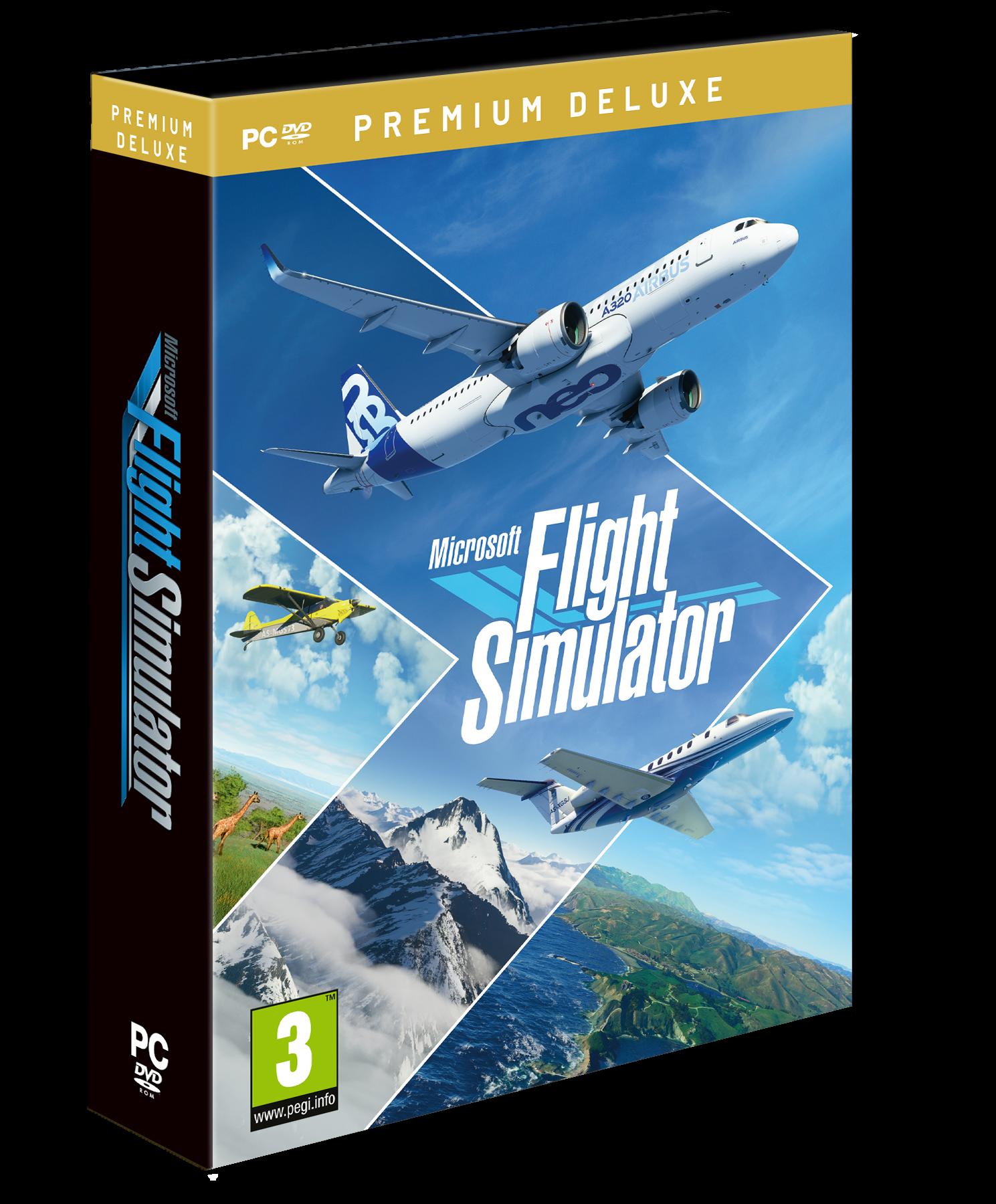 Microsoft Flight Sim 2020 (Premium Deluxe Edition) (DVD Format)