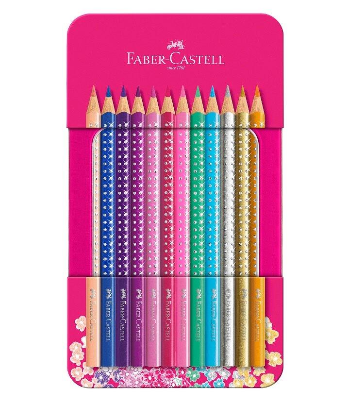 Faber-Castell - Sparkle colour pencil,12 pc in tin box (201737)