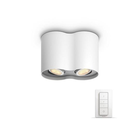 Pillar Hue - Pillar 2x5.5W  - Bluetooth Dimmer Switch Included - White - E