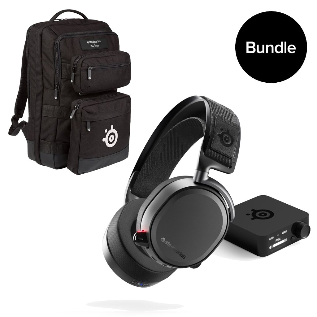 Steelseries - Arctis Pro Wireless & SteelSeries - Gaming Backpack By Targus - Bundle