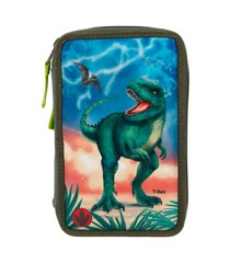 Dino World - Trippel Pencil Case w/LED (11288)