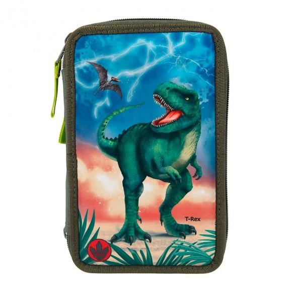 Dino World - Trippel Pencil Case w/LED (11288)