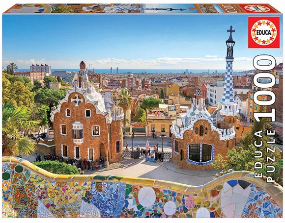 Educa - Puzzle 1000 - Barcelona View Fom Park Güell (17966)