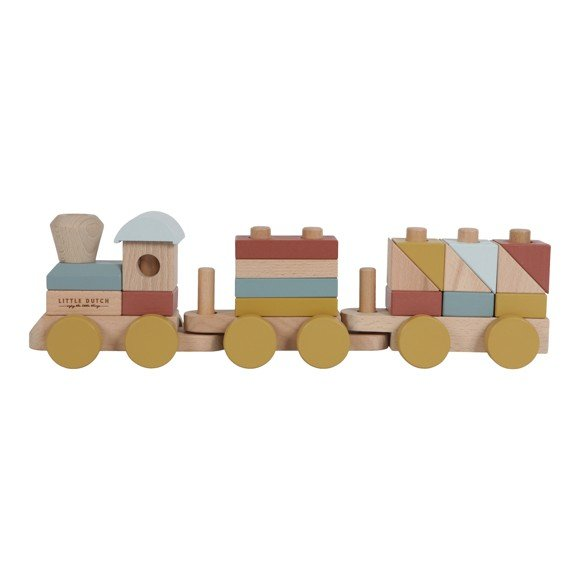 Little Dutch - Stacking train Pure & Nature (LDW4702)
