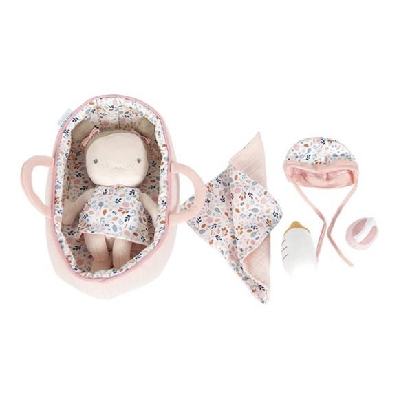 Little Dutch - Soft babydoll Rosa in cradle, Pink (LDT4528)