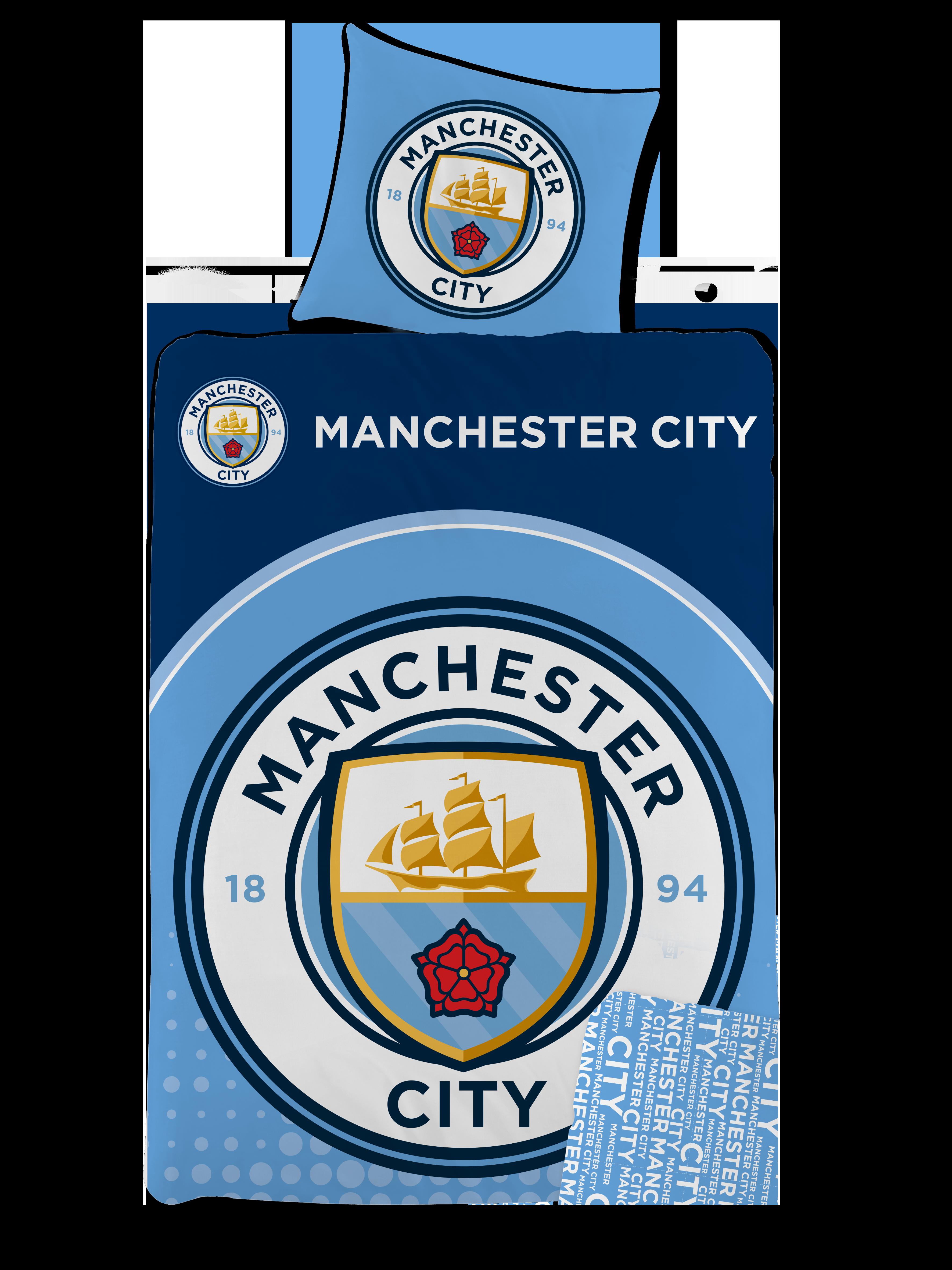 Bed Linen - Adult Size 140 x 200 cm -  Manchester City (1000273)