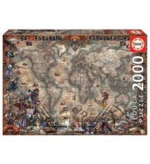 Educa - Puzzle 2000 - Pirates Map (018008)