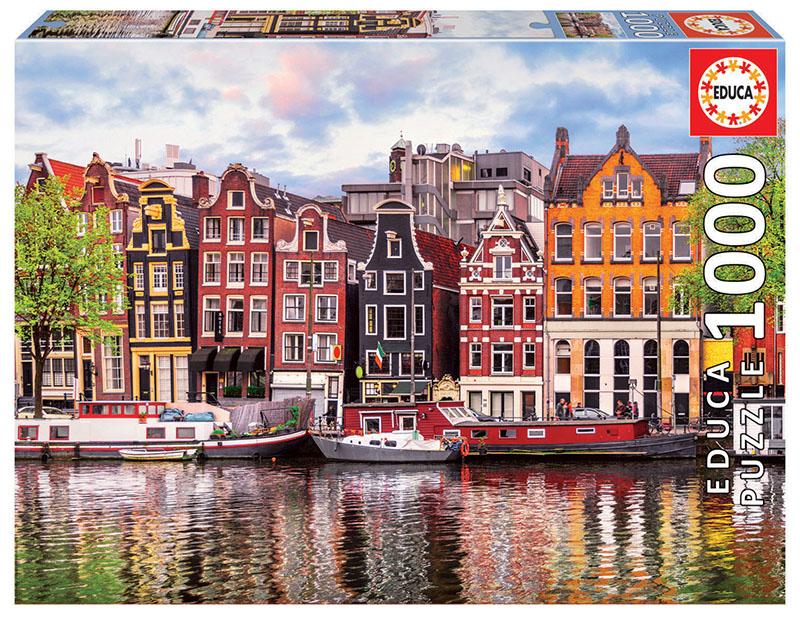 Educa - Puzzle 1000 - Dancing Houses, Amsterdam (018458)