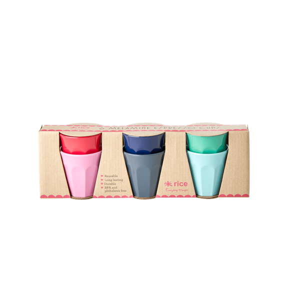 Rice - 6 Melamine Espresso Kopper- Believe in Red Lipstick