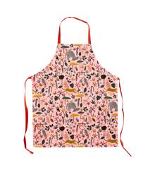 Rice - Børne Bomuld Forklæde m. Jungle Dyre Print  - Koral