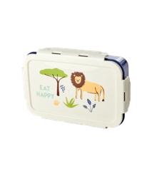 Rice - Lunchbox w. 3 Inserts - Blue Jungle Print