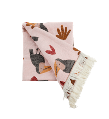 Rice - Blanket w. Toucan - Soft Pink