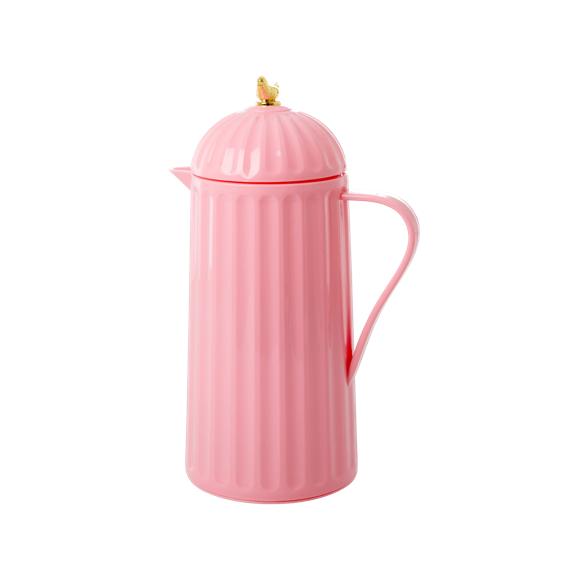 Rice - Termokande m. Guld Fugl 1 L - Bubblegum Pink