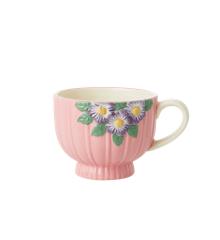 Rice - Keramik Krus - Pink Blomster Design