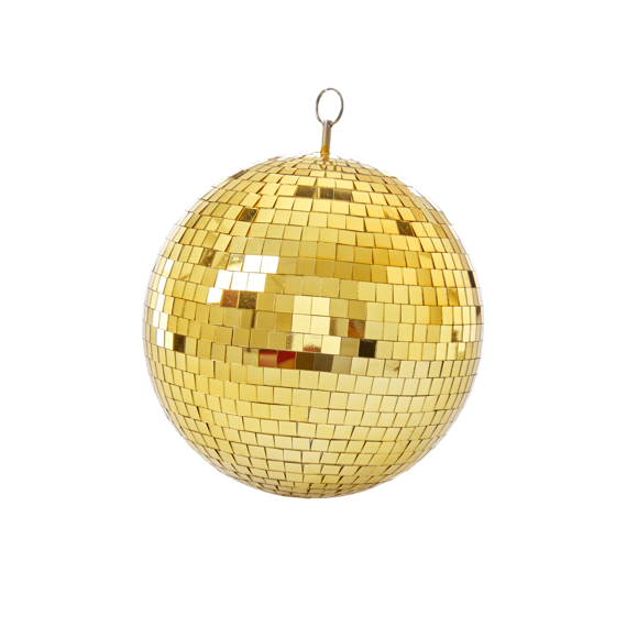 Rice - Gold Disco Ball - 25 cm