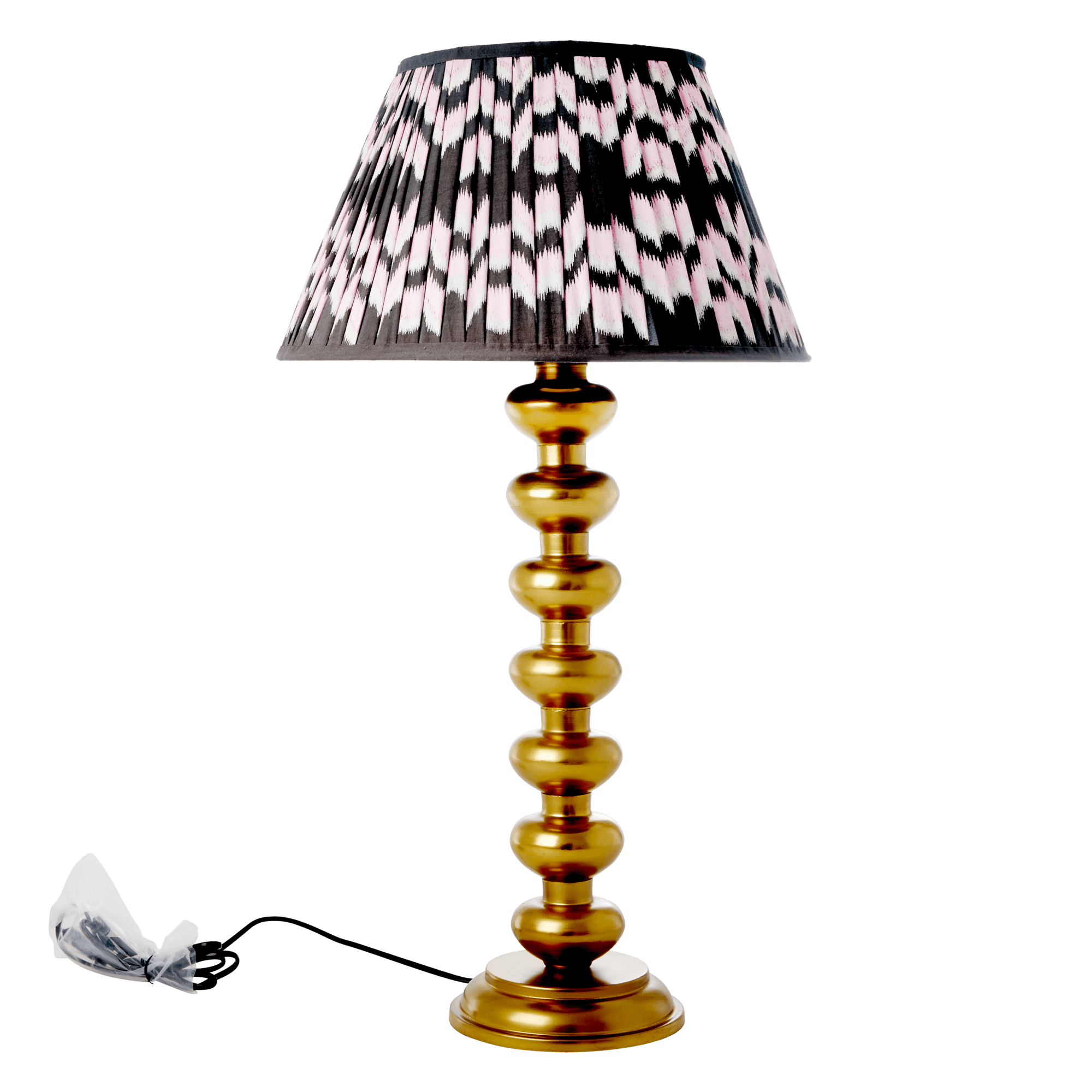 Picture of: Kob Rice Metal Bord Lampe I Guld Gold Inkl Fragt