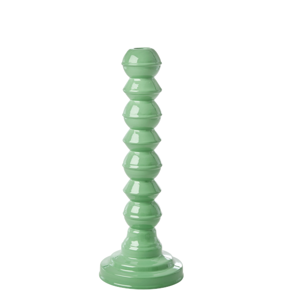 Rice - Enamel Coated Candleholder - Emerald Green