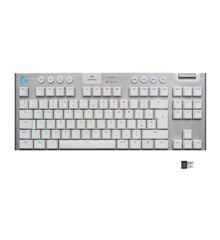 Logitech - G915 TKL Tenkeyless LIGHTSPEED Gaming Keyboard - WHITE -TACTILE SWITCH (Nordic)