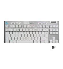 Logitech - G915 TKL Tenkeyless LIGHTSPEED Gaming Keyboard - WHITE -TACTILE SWITCH - Nordisk Layout
