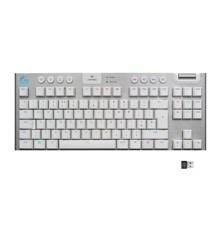 Logitech - G915 TKL Tenkeyless LIGHTSPEED Gaming Keyboard - WHITE -TACTILE SWITCH