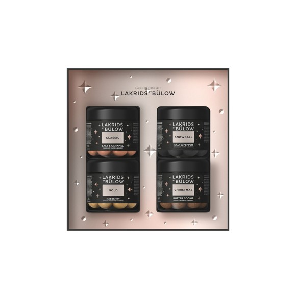 Lakrids By Bülow - Black Box 4 x Small Classic, Gold, Christimas & Snowball 500 g (500456)